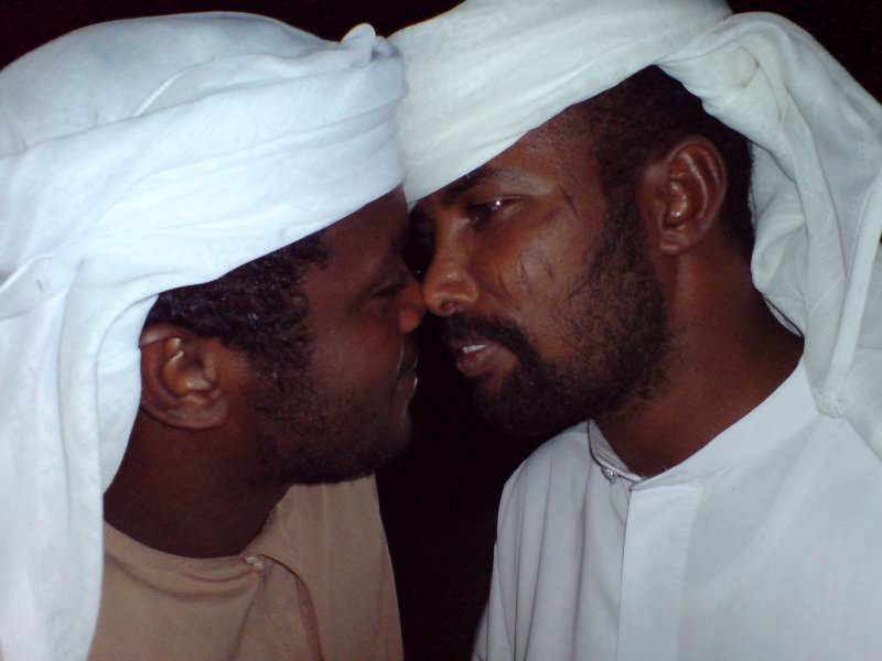 Arab Men Rubbing Noses