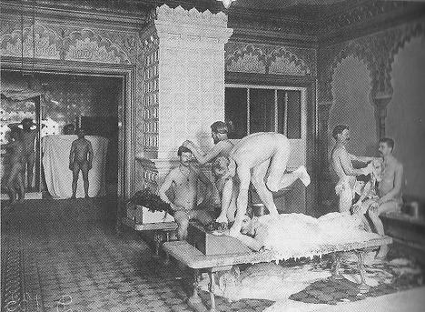 Egorov-Badehaus in St. Petersburg, Russland, ca. 1910