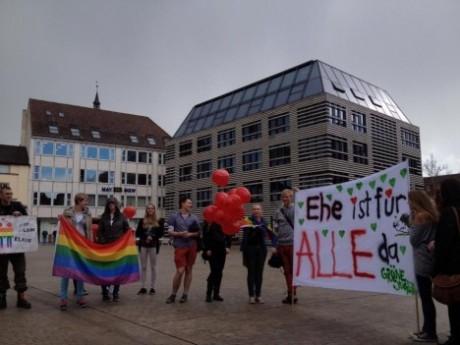 »Ehe ist für ALLE da.« Grüne Jugend Würzburg