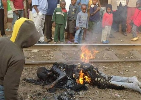 Image: Homosexual burned alive in Uganda